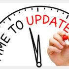 update on a clock
